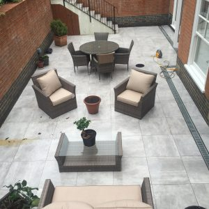Basement patio