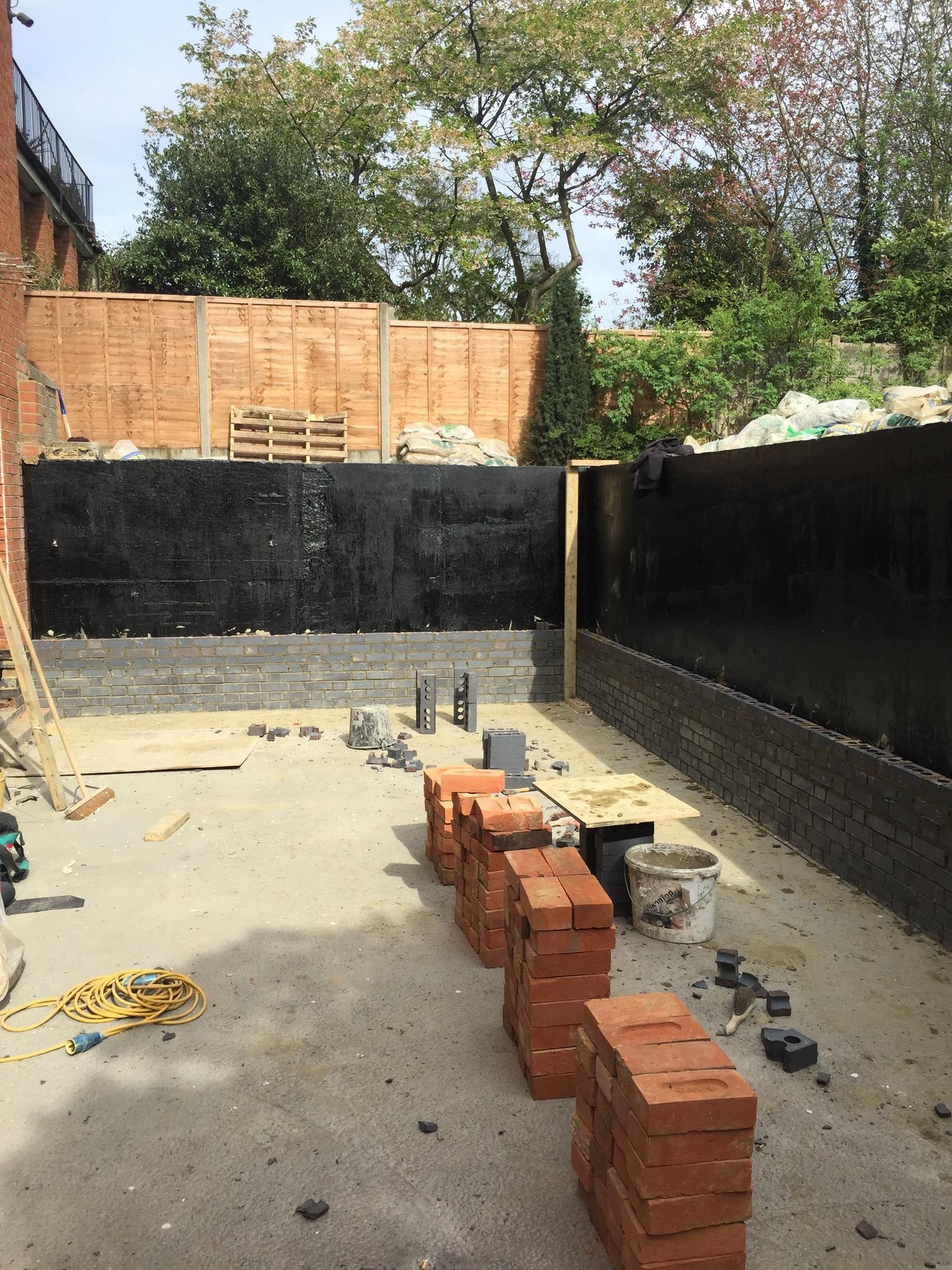 Building sunken patio