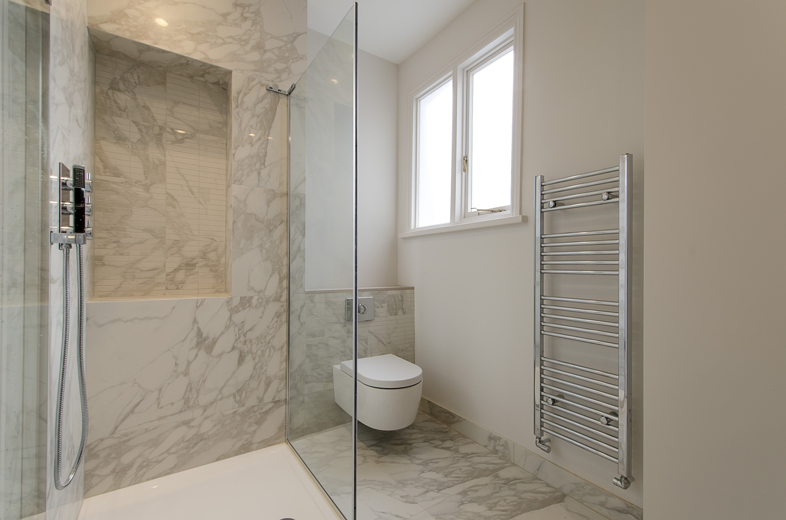 Marble finish bathroom