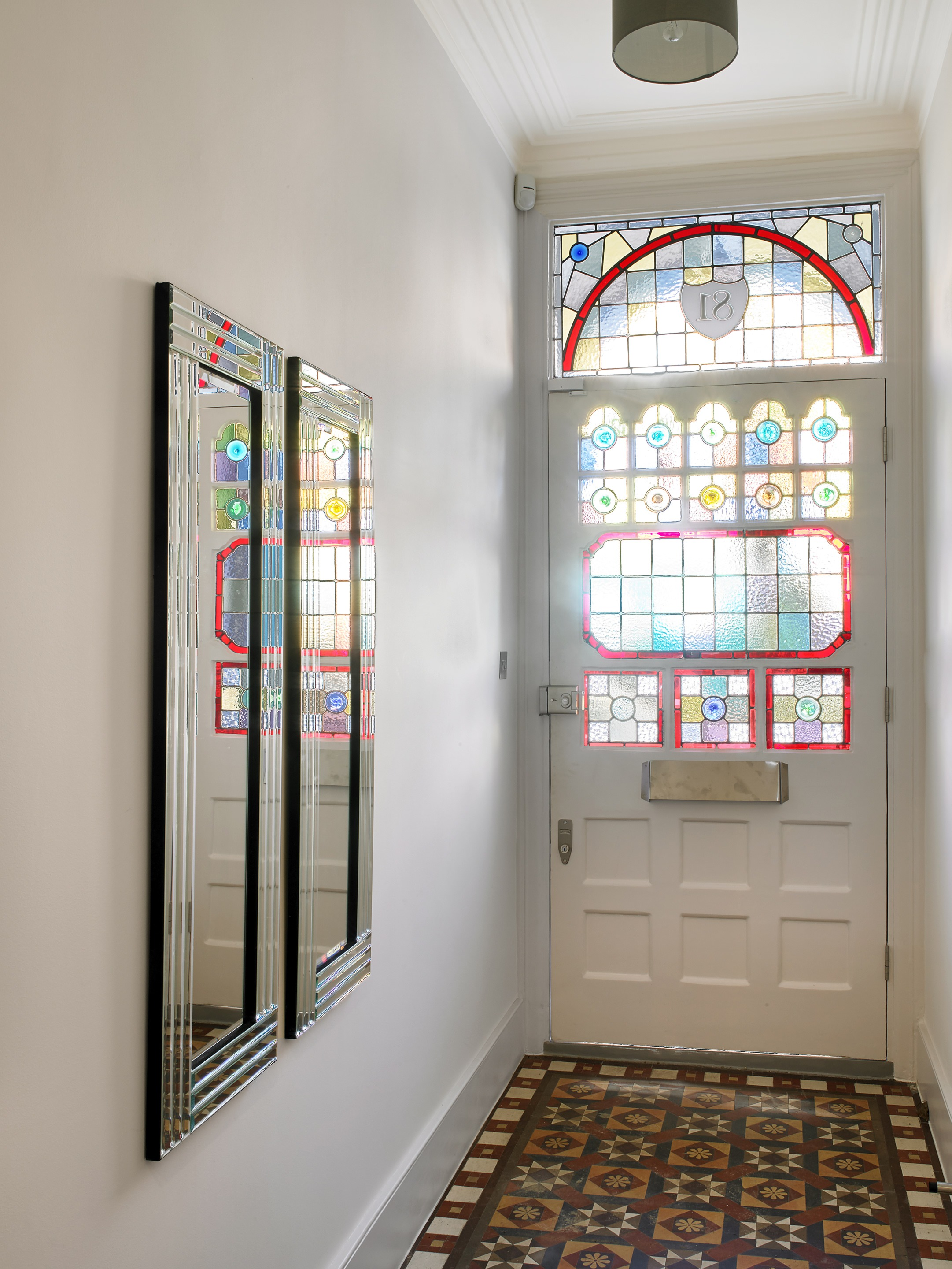 Period stained glass porch