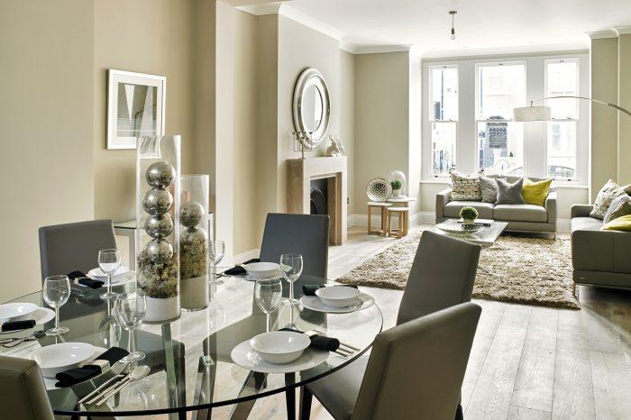 Elegant living room conversion